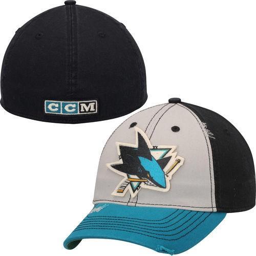 ホッケー NHL USA アメリカ CCM San Jose Sharks グレー Sandblasted Flex ハット 帽子