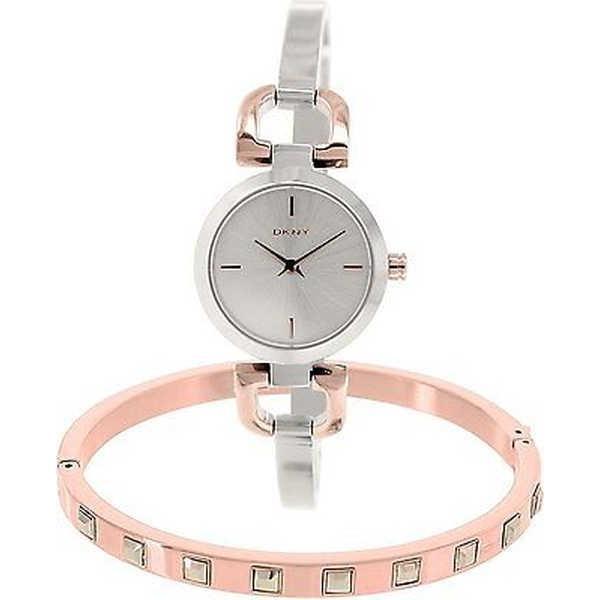 【高価値】 腕時計 ディーケーエヌワイ DKNY レディース NY2271 'Reade' バングル Set ステンレス スチール 腕時計, DEAR-stoa 4d0a4abc