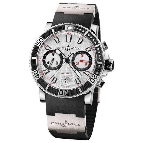 100%正規品 腕時計 ユリスナルダン Ulysse Nardin 8003-102-3/916 Maxi Marine Diver クロノグラフ 腕時計 Ret: $11,000, スカガワシ b061d198