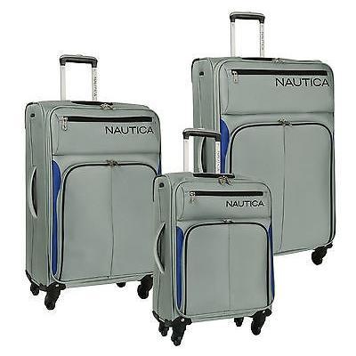 ラゲッジ トランク スーツケース ノーティカ NAUTICA ASHORE シルバー 3 ピース EXPANDABLE スピナー ラゲッジ セット