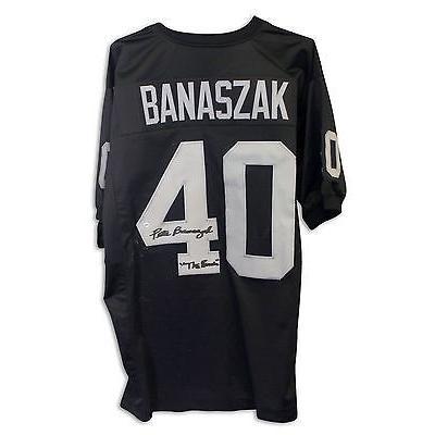 玄関先迄納品 フットボール NFLアメリカン ウェア ユニフォーム Pete Banaszak Autographed Jersey Inscribed