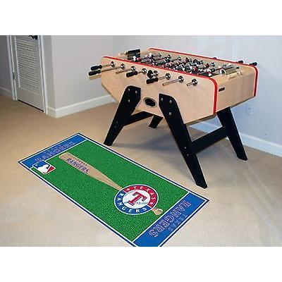 野球 MLB アメリカン ベースボール ウェア ユニフォーム ファンマット Texas Rangers Area Rug Baseball Runner Mat