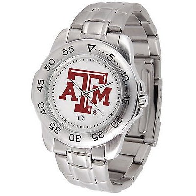 人気が高い カレッジ スポーツ ユニフォーム NCAA Aggies サンタイム Texas A&M サンタイム Aggies Ladies Sport Watch Steel Band White Dial Ladies or Mens, オージードリーム:15efc6ba --- airmodconsu.dominiotemporario.com