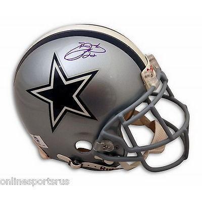 新しいスタイル フットボール NFLアメリカン ウェア ユニフォーム リデル Autographed Emmitt Emmitt Smith Helmet Autographed Proline Helmet Dallas Cowboys, ナノズ:a79a5f4b --- airmodconsu.dominiotemporario.com