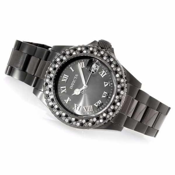 優れた品質 腕時計 インヴィクタ Invicta Womans Womans エンジェル レディース クリスタル アクセンティッド クリスタル 腕時計 ガンメタルステンレス スチール 腕時計, シンカワチョウ:b7801579 --- airmodconsu.dominiotemporario.com