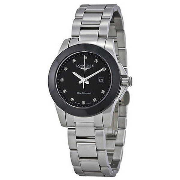 最終値下げ 腕時計 ロンジン Longines レディース L32574576 'Conquest' ダイヤモンド ステンレス スチール 腕時計, 天瀬町 ba1e4e1d