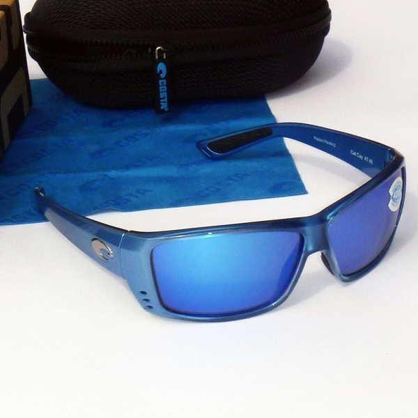 【内祝い】 サングラス Polarized コスタデル マーレ Cat Costa Del Mar Cat 400G Cay Polarized Sunglasses-Sky Blue/Blue Mirror 400G Glass-NEW, MClimb WEED:0e63b16f --- grafis.com.tr