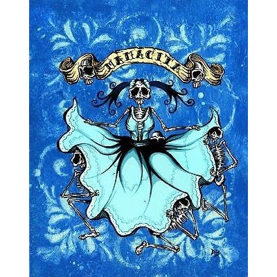 アート 海外セレクション Mamacita by David Lozeau Canvas Giclee Latina Skeleton Mother Children Kids