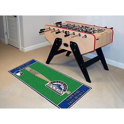野球 MLB アメリカン ベースボール ウェア ユニフォーム ファンマット Colorado Rockies Area Rug Baseball Runner Mat