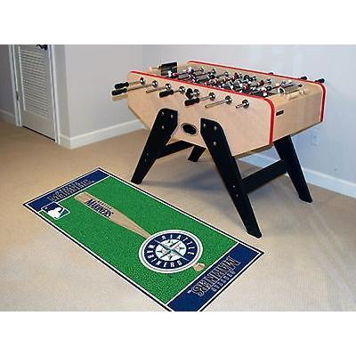 野球 MLB アメリカン ベースボール ウェア ユニフォーム ファンマット Seattle Mariners Baseball Runner Mat Area Rug