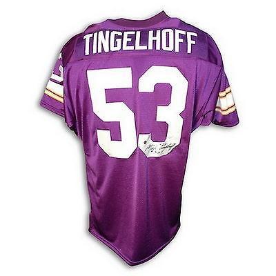 日本未入荷 フットボール NFLアメリカン ウェア ユニフォーム アスレティック ニット Mick Tingelhoff Autographed Throwback Jersey Minnesota Vikings, ミキチョウ 27cf21fb