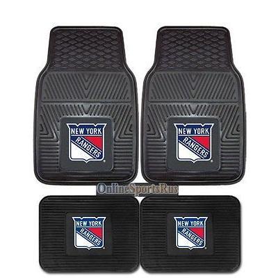 ホッケー NHL アメリカン ウェア ユニフォーム ファンマット New York Rangers Car Mats 4 Pc Front Rear Heavy Duty Vinyl