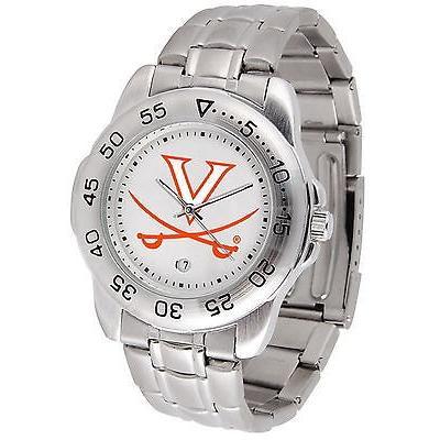安価 カレッジ スポーツ ユニフォーム NCAA サンタイム Virginia Cavaliers Sport Watch Steel Band White Dial Ladies or Mens, エコー米穀 f2426a5f