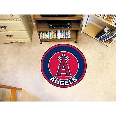 野球 MLB アメリカン ベースボール ウェア ユニフォーム ファンマット Los Angeles Angels Round Area Rug Roundel Mat