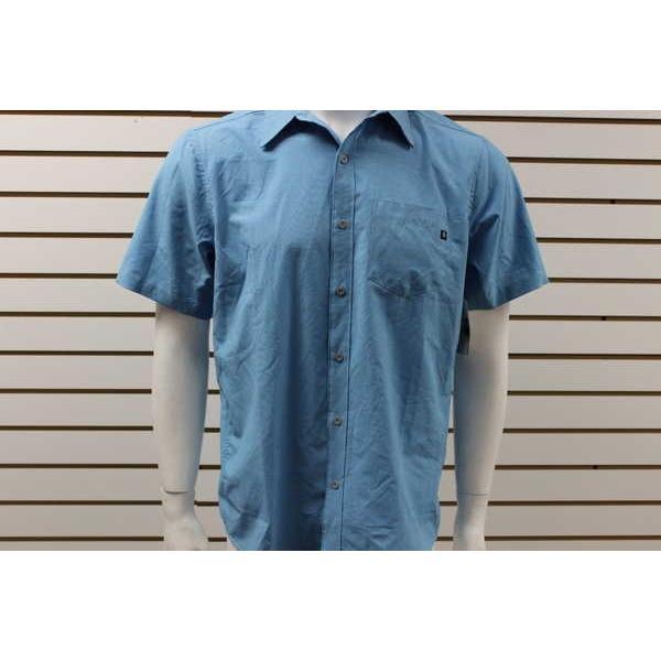 【特別セール品】 アスレチック Shirt ウェア マーモット メンズ Marmot ブルー Goat Peak 半袖 Button-Up メンズ Solid Shirt クリスタル ブルー 51260, 健康 美容雑貨 メイダイ:8ff236f4 --- airmodconsu.dominiotemporario.com