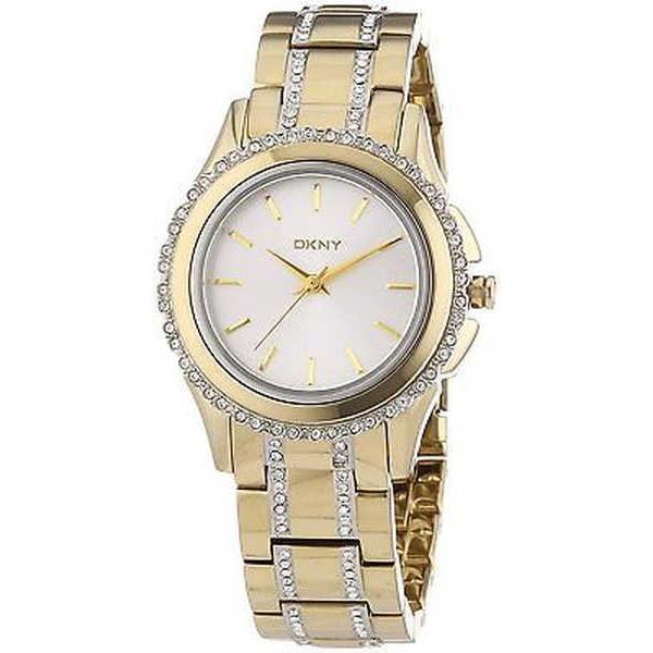 雑誌で紹介された 腕時計 ディーケーエヌワイ DKNY レディース NY8699 'Brooklyn' クリスタル ゴールドトーン ステンレス スチール 腕時計, 魚一 f914e981