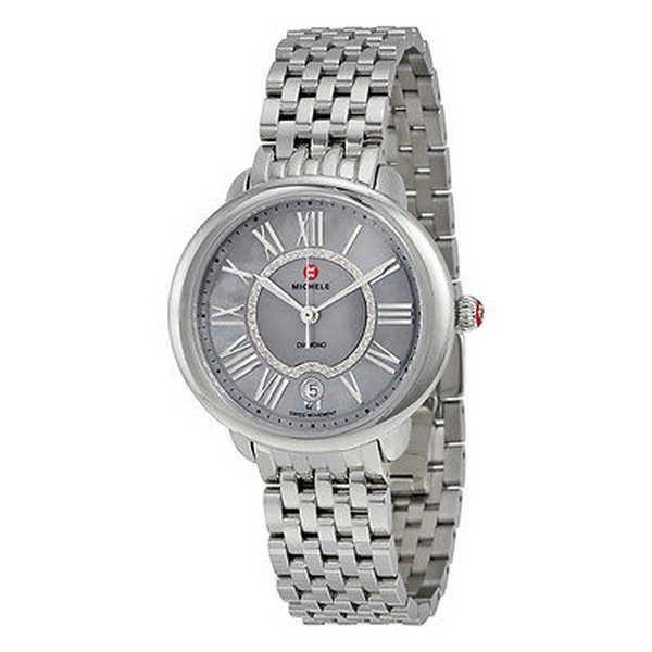 【名入れ無料】 腕時計 ミッシェル Michele レディース MWW21B000040 'Serein 16' ダイヤモンド ステンレス スチール 腕時計, 田野畑村 78893cfc