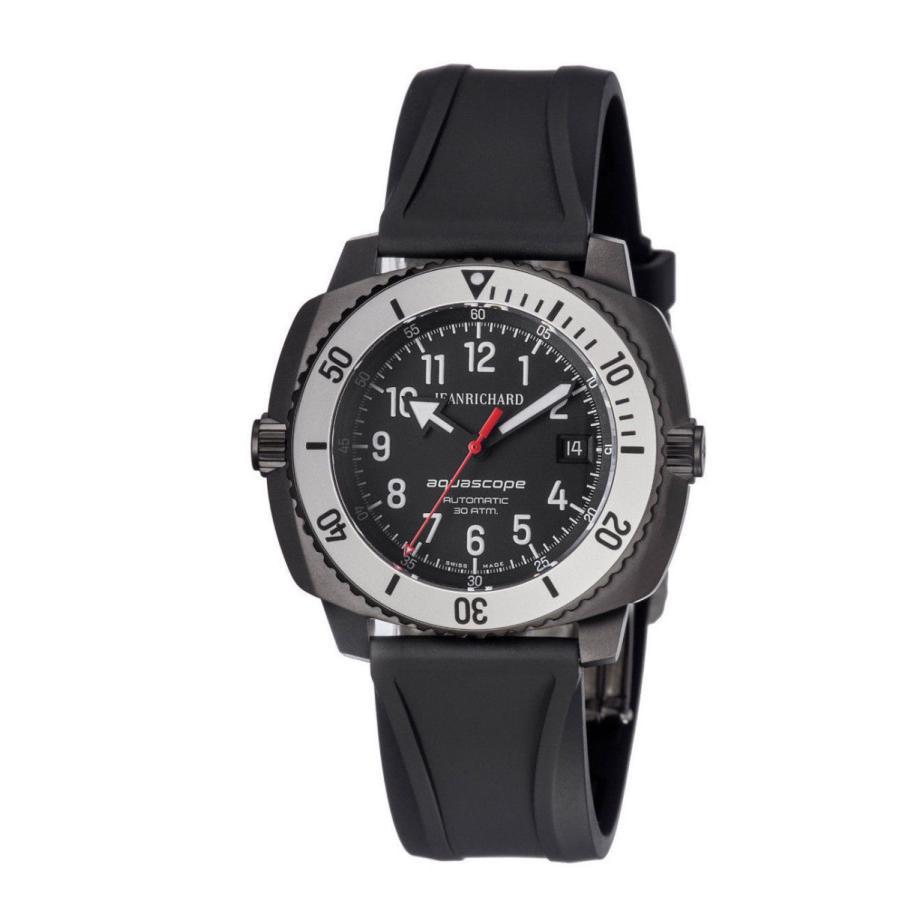 【代引き不可】 腕時計 海外セレクション Jean New Jean Richard Swiss Aquascope Swiss Automatic Watch Black Dial 48mm Watch, Fleur Town 吉本花城園:944346af --- chizeng.com