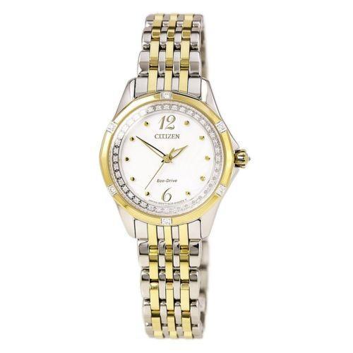 大量入荷 腕時計 シチズン Citizen Watch EM0374-50A Lady's シチズン Citizen White Dial TT Bracelet Diamond Watch, ブランドジャックリスト湘南:77c17633 --- airmodconsu.dominiotemporario.com