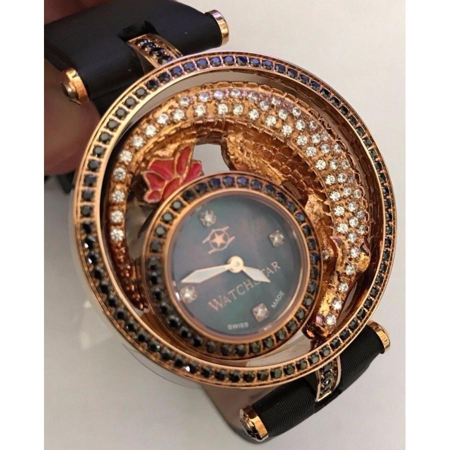 非売品 腕時計 海外セレクション New Watchstar Diva Star 45mm Swiss Made Rose Crocodile Hand Placed Stones Watch, 明治33年創業 本気の切味 實光包丁 e2ddd412