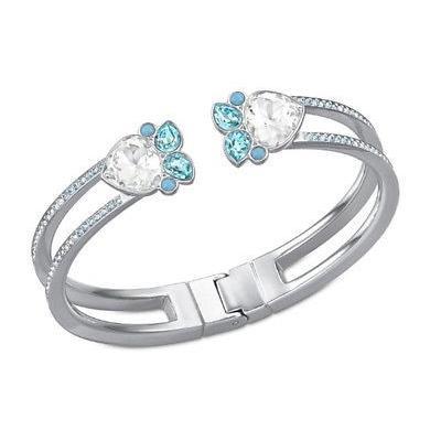 品質一番の ブレスレット スワロフスキー Swarovski Azore Bangle, Bracelet Blue/Clear Crystal Authentic MIB - 5037454, ハンギョ f964eed4