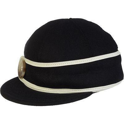 人気ブランドを 帽子 Stormy Kromer Mercantile Button Up Cap レディース ブラック/ホワイト 7 1/4, 旭市 0cc4cc1d