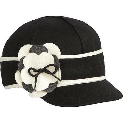 最新作 帽子 Stormy Kromer Mercantile Petal Pusher Cap レディース ブラック/ホワイト 7 1/8, サエキク fc15699b