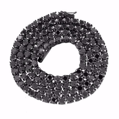 海外最新 ジュエリー 腕時計チェーン ネックレス マスターオブブリング ブラック テニス Link ネックレス メンズ Solitaires 6 mm ステンレス スチール 1 Row 30IN Chain, ジーニングハウス JACK本店 e7c575b7