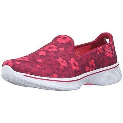 大勧め アスレチック スケッチャーズ Skechers Performance 14162 レディース Go Walk 4 Flourish Walking シューズ Pink, エチゼンチョウ 362f93bc