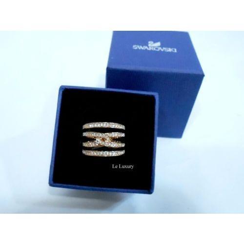 【新品本物】 リング Size スワロフスキー Swarovski 5140094 Creativity Ring Size S crystal/52 Rose gold-plated clear crystal MIB 5140094, 仙北町:7c314912 --- odvoz-vyklizeni.cz