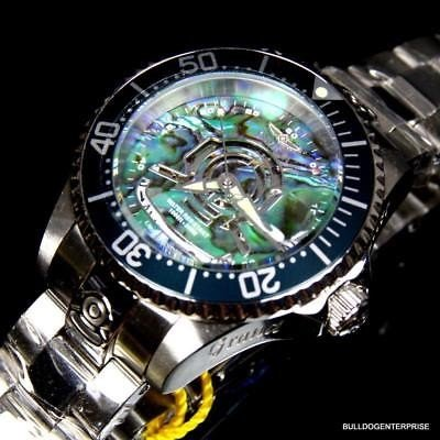 価格は安く 腕時計 インヴィクタ インヴィクタ Womens Invicta Steel Automatic Grand Diver Helmet Automatic Silver Steel Blue Abalone Watch New, ok-bungu 創業明治5年:e263f61d --- airmodconsu.dominiotemporario.com