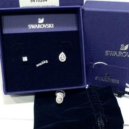 日本最級 イヤリング スワロフスキー Attract Pierced Earrings Asymmetric Mix,Swarovski Crystal Authentic MIB 5410284, サンステラ f1cc18c5