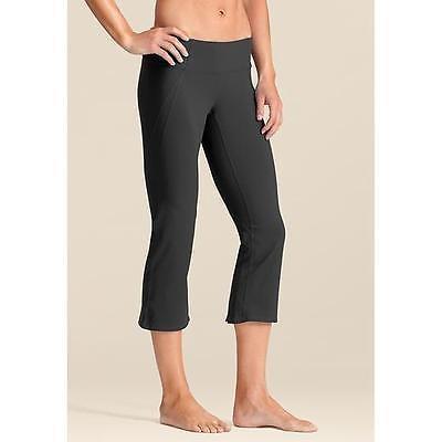 レディース アスレチック ウェア アスレタ Athleta Power ブラック Capri asphalt Gym Yoga Workout Dance パンツ SZ- XX-スモール