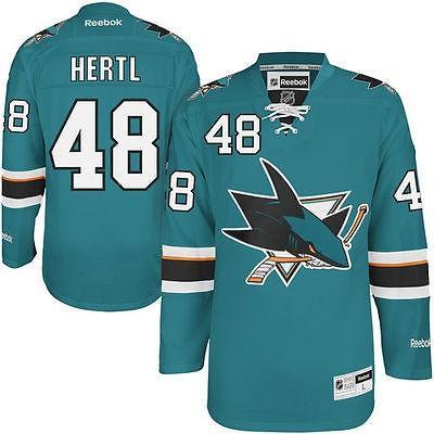 リーボック アメリカ USA カレッジ 全米 リーグ ホッケー NHL Reebok Tomas Hertl San Jose Sharks Teal Home Premier ジャージ