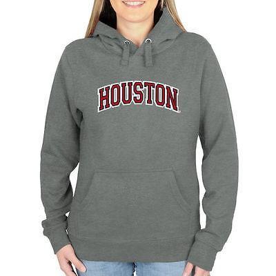 海外バイヤーおすすめ アメリカ USA カレッジ 全米 リーグ NCAA Houston Cougars レディース アーチネーム プルオーバーパーカー ガンメタル