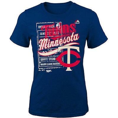 マジェスティック アメリカ USA メジャー リーグ 全米 野球 MLB Majestic Minnesota Twins ユース Girls ネイビー Terrorizing Play Tシャツ