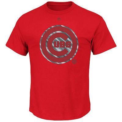 マジェスティック アメリカ USA メジャー リーグ 全米 野球 MLB Majestic Chicago Cubs レッド Push Through Tシャツ