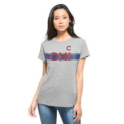 47ブランド アメリカ USA メジャー リーグ 全米 野球 MLB 47 Chicago Cubs レディース Heather グレー スーパー Hero Boyフレンド フィット Tシャツ