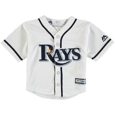 マジェスティック アメリカ USA メジャー リーグ 全米 野球 MLB Tampa Bay Rays Newborn & Infant ホワイト Official Cool Base ジャージ