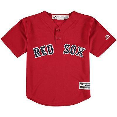 マジェスティック アメリカ USA メジャー リーグ 全米 野球 MLB Majestic Boston レッド Sox Preスクール レッド Cool Base Henley ジャージ