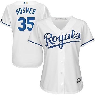 マジェスティック アメリカ USA メジャー リーグ 全米 野球 MLB Majestic Eric Hosmer Kansas City ロイヤルs レディース ホワイト Cool Base Player ジャージ