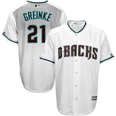 マジェスティック アメリカ USA メジャー リーグ 全米 野球 MLB Majestic Zack Greinke Arizona ダイヤモンドbacks ホワイト Home Cool Base Player ジャージ