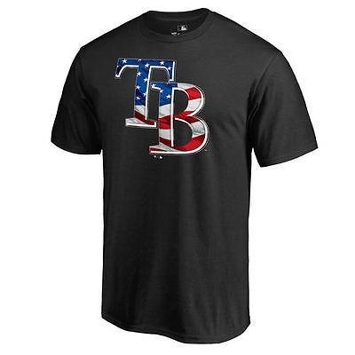 ファナティックス ブランディッド ベースボール MLB 野球 アメリカ USA 全米 Tampa Bay Rays ブラック Banner Wave II Tシャツ