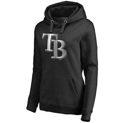 無料配達 ファナティックス ブランディッド ベースボール MLB 野球 アメリカ USA 全米 Tampa Bay Rays レディース ブラック Platinum コレクション プルオーバーパーカー, いつも元気なきもの屋さん e8b151e3