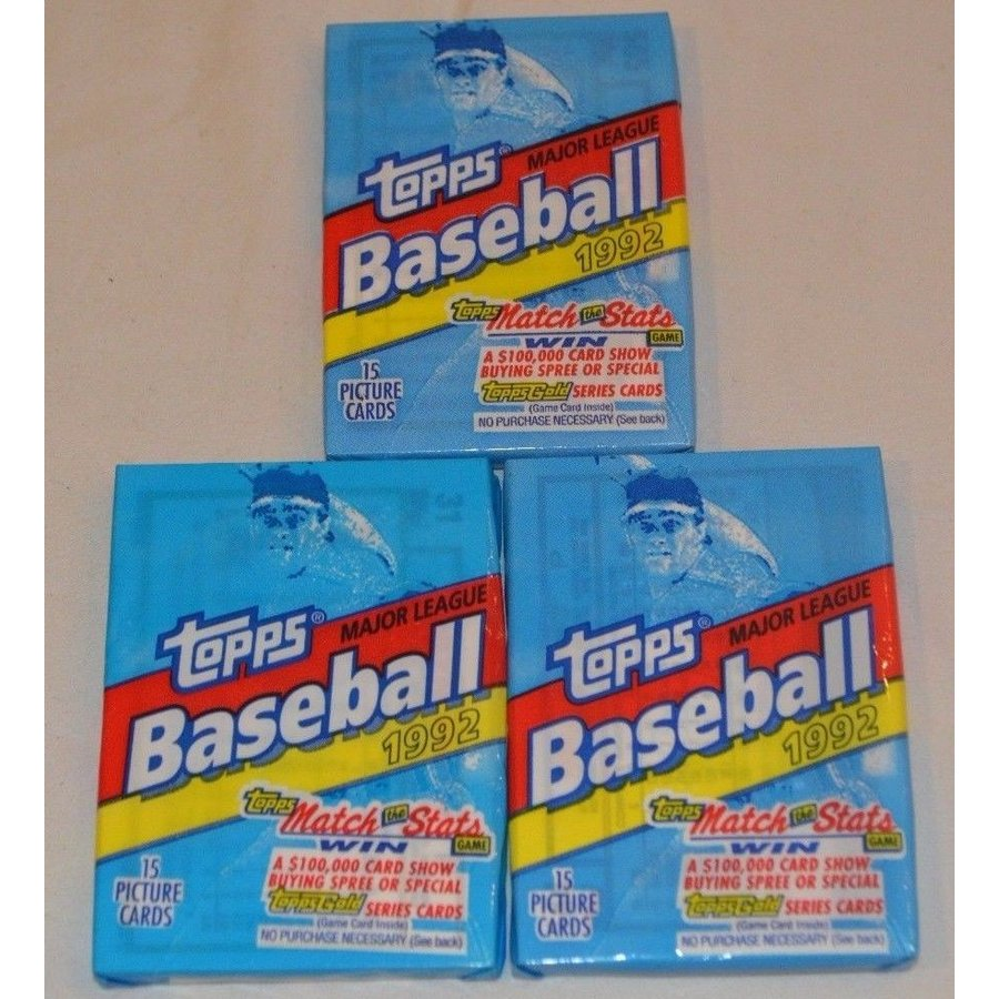 海外セレクション 野球 SEALED 1992 Topps Major League Baseball 15 Cards Per Pack - Set of Two