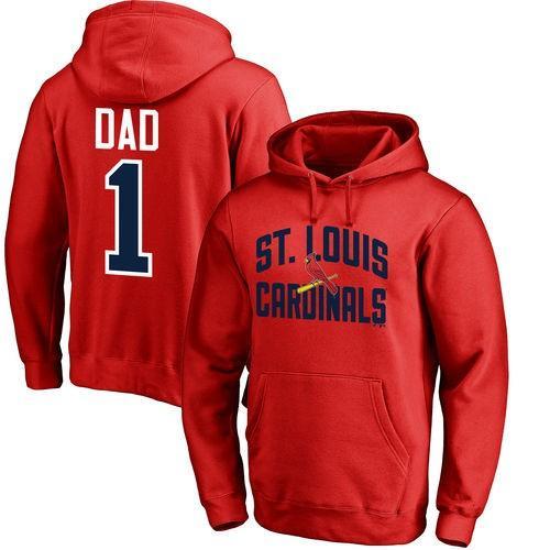 【タイムセール!】 ファナティックス ブランディッド ベースボール MLB 野球 アメリカ USA 全米 St. Louis Cardinals レッド #1 Dad プルオーバーパーカー, 業務用ソフトの専門店ソフトジャム ed78d334