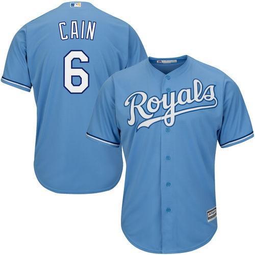 マジェスティック ベースボール MLB 野球 アメリカ USA 全米 Majestic Lorenzo Cain ユース ライト ブルー Official Cool Base Player Jersey