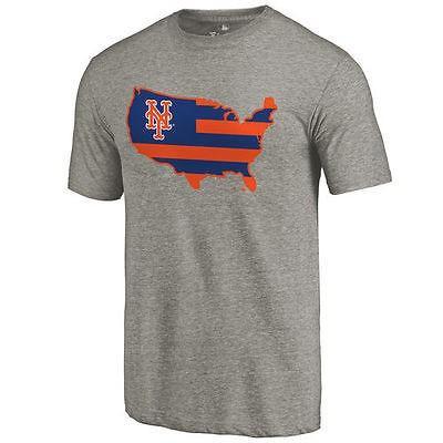 ファナティックス ブランディッド ベースボール MLB 野球 アメリカ USA 全米 New York Mets Ash Broad ストライプス Tri-Blend Tシャツ