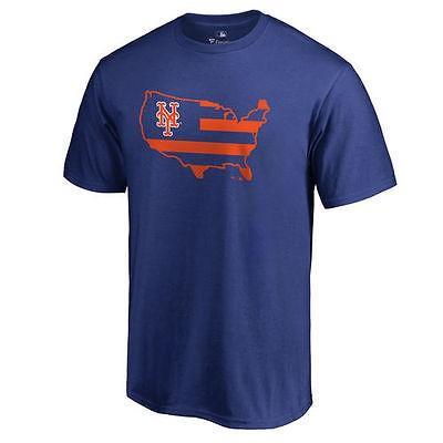 ファナティックス ブランディッド ベースボール MLB 野球 アメリカ USA 全米 New York Mets Royal Big Tall Broad ストライプス Tシャツ