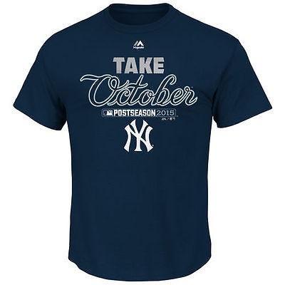 マジェスティック ベースボール MLB 野球 アメリカ USA 全米 Majestic New York Yankees ネイビー 2015 Postseason Participant Tシャツ